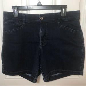 Lee dark jean shorts
